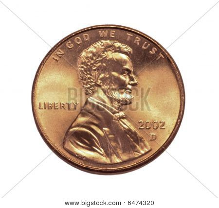 Lincoln cent closeup