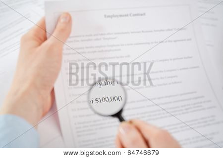 Financial Terms Of A Contract