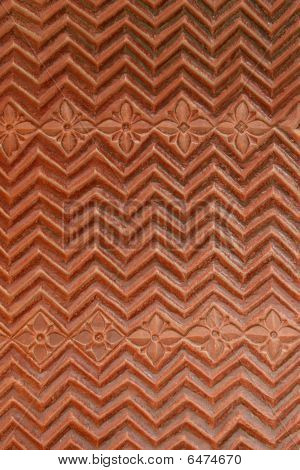 Beautiful Stone Carvings On The Temple Wall In The Fatehpur Sikri, India