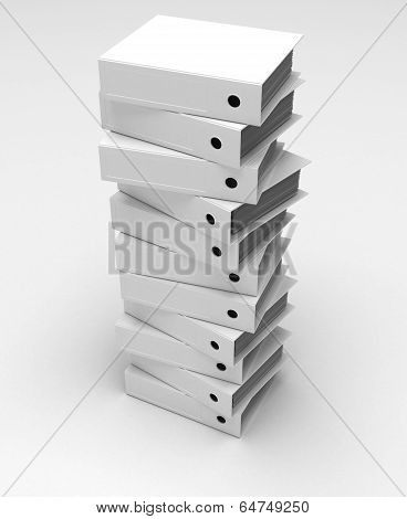Stack Of Ring Binders