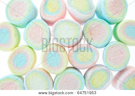 Colorful Marshmallow Background