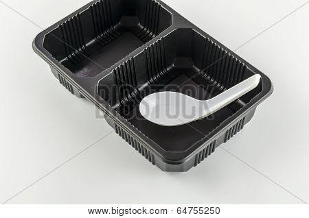 Black Tray With Spoon