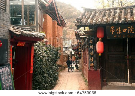 Shuhe Ancient Town In Lijiang,?Yunnan In China.