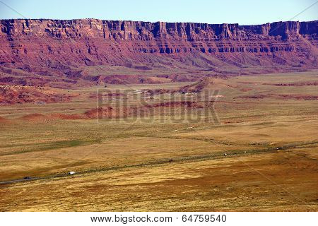 Highway Runs Under Vermillion Cliffs