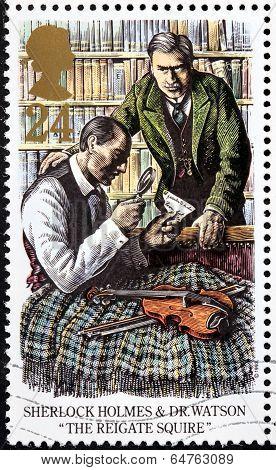 Sherlock Holmes Stamp 1