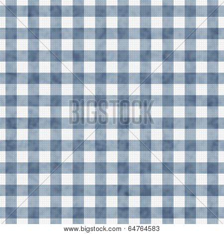 Blue Gingham Pattern Repeat Background