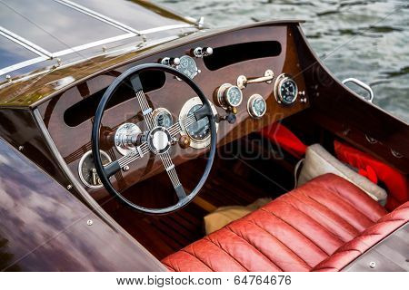 Wooden Motor Boat Dashboard