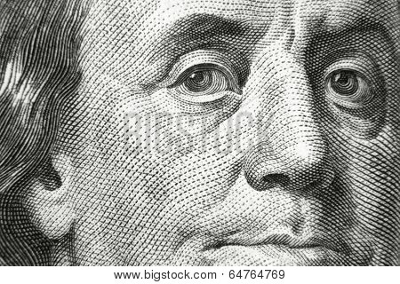 Benjamin Franklin on 100 dollar bill