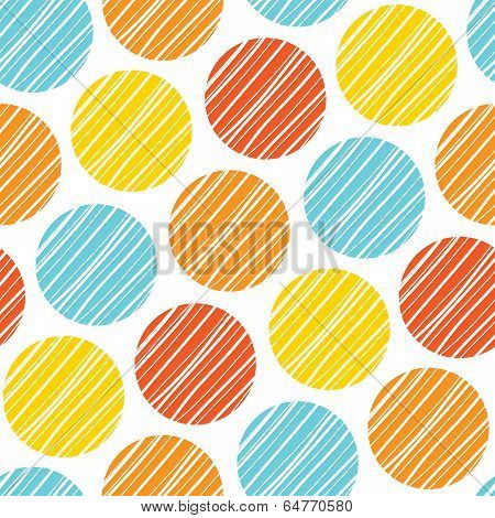 Abstract Seamless Scandinavian Colorful Lined Rounds Wall Background Pattern Design