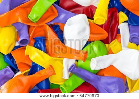 Colorful Vibrant Background Of Party Balloons