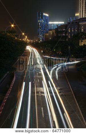 Night Traffic In Macao
