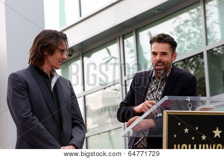 LOS ANGELES - MAY 9:  Rick Springfield, Jason Thompson at the Rick Springfield Hollywood Walk of Fame Star Ceremony at Hollywood Blvd on May 9, 2014 in Los Angeles, CA