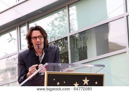 LOS ANGELES - MAY 9:  Rick Springfield at the Rick Springfield Hollywood Walk of Fame Star Ceremony at Hollywood Blvd on May 9, 2014 in Los Angeles, CA