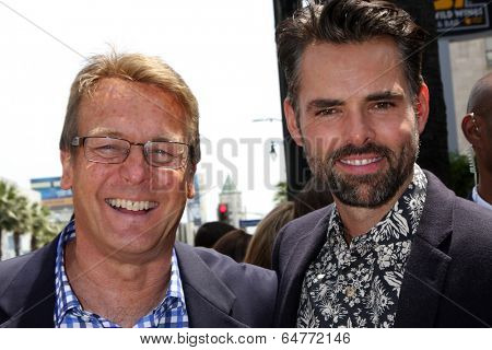 LOS ANGELES - MAY 9:  Doug Davidson, Jason Thompson at the Rick Springfield Hollywood Walk of Fame Star Ceremony at Hollywood Blvd on May 9, 2014 in Los Angeles, CA