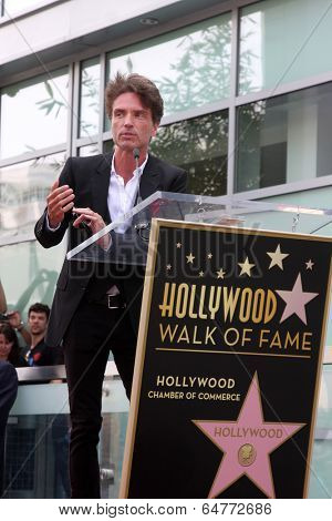 LOS ANGELES - MAY 9:  Richard Marx at the Rick Springfield Hollywood Walk of Fame Star Ceremony at Hollywood Blvd on May 9, 2014 in Los Angeles, CA