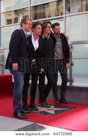 LOS ANGELES - MAY 9:  Doug Davidson, Richard Marx, Rick Springfield, JasonThompson at the Rick Springfield Hollywood Walk of Fame Star Ceremony at Hollywood Blvd on May 9, 2014 in Los Angeles, CA