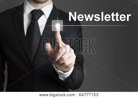 businessman newsletter button