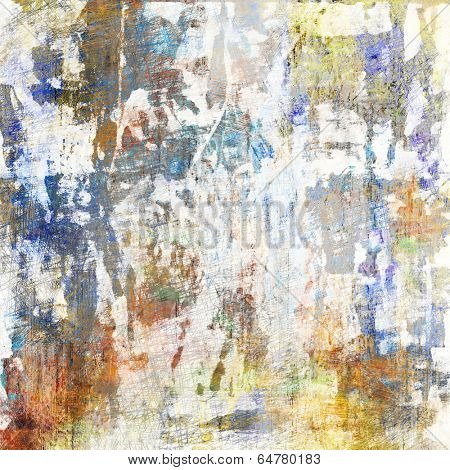 art abstract acrylic and pencil background in white, blue, beige and grey colors