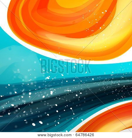 Abstract template with sparks and flashes for business artwork .