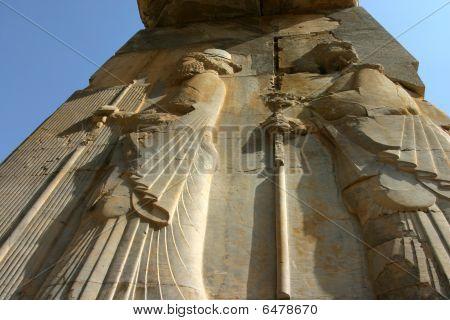 Bas-relief At Persepolis, Iran