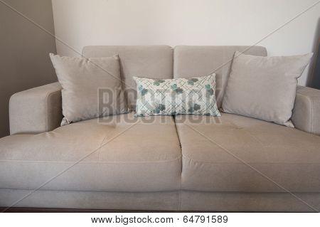 Beige Sofa In Living Room