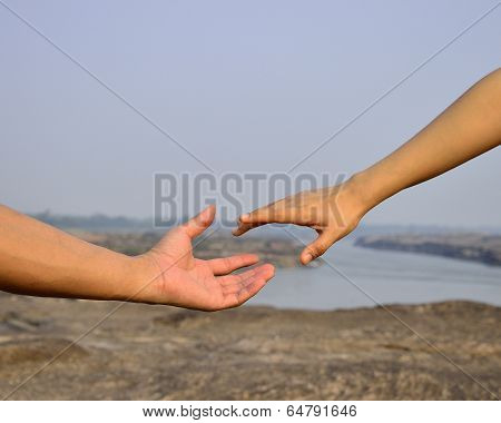 Stretch your hand for someone to help