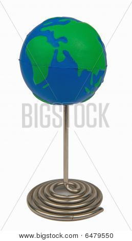Globe On Pin Whiteback