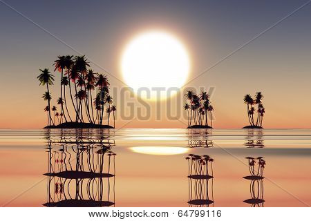 Sunset Over Coconut Islands