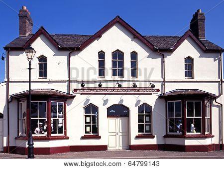 Railway station, Llanfair PG, Wales.
