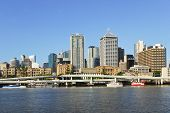 picture of cbd  - Brisbane the third largest city in Australia and the capital and most populous city in Queensland a view from the South Bank Parklands towards the Brisban River and the Brisbane central business district - JPG