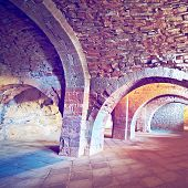 image of dungeon  - Vaulted Dungeon of Royal Monastery in Spain Photo Filter - JPG