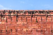stock photo of mughal  - The Agra fort built by the Mughals in the Indian State of Uttar Pradhesh - JPG