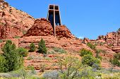image of chapels  - The Chapel of the Holy Cross is a Roman Catholic chapel built into the buttes of Sedona - JPG