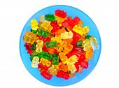 pic of gummy bear  - Gummy bears candy in a colorful bowl - JPG