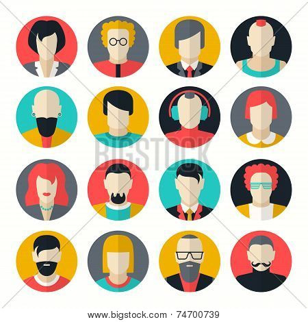 Stylized Character People Avatars