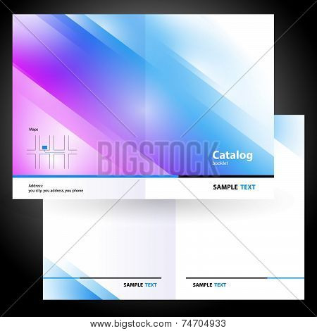 catalog booklet folder brochure colorful design vector gradient blue