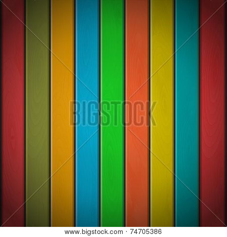 Colorful Wood Plank Background