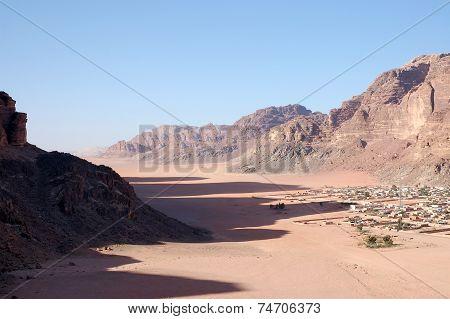 Bedouin Village In Wadi Rum, Jordan.