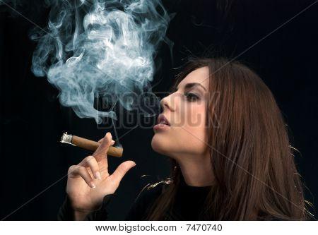 Miss Sexy Cigar Smoker