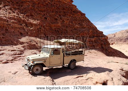 Extreme Safari Vehicle In Wadi Rum Desert, Jordan