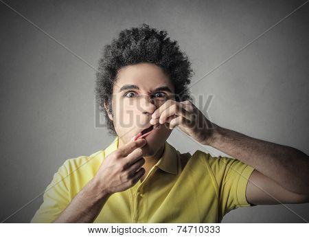 Man playing jokes
