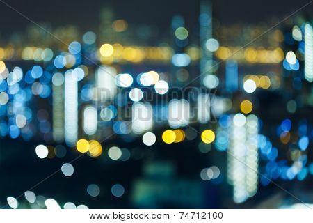 Blur cityscape at night