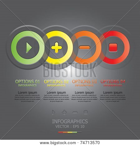 Modern Circle Sign Business Infographic Design Template