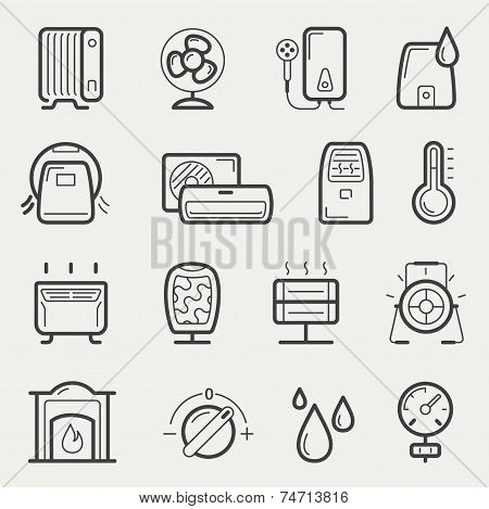 Climatic Equipment Icons