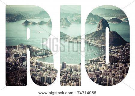 Word Rio De Janeiro, Brazil.