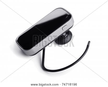Bluetooth handsfree headset isolated on white