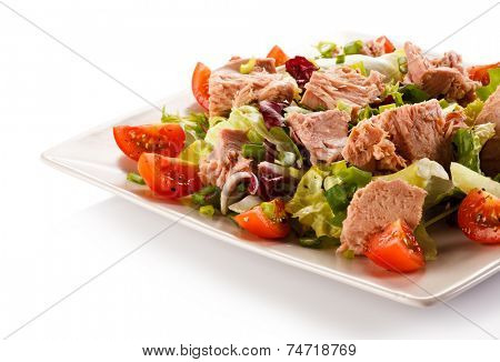Tuna and vegetable salad