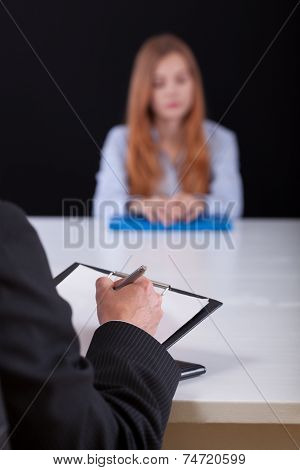 Writing Down During The Recruitment Meeting