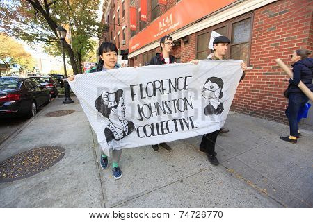 Florence Johnson Collective marching