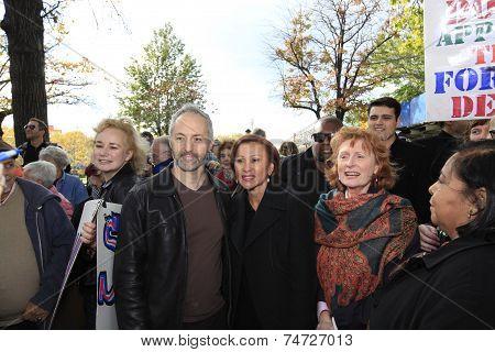 Jeff Strabone, Nydia Velazquez, Joanne Simone